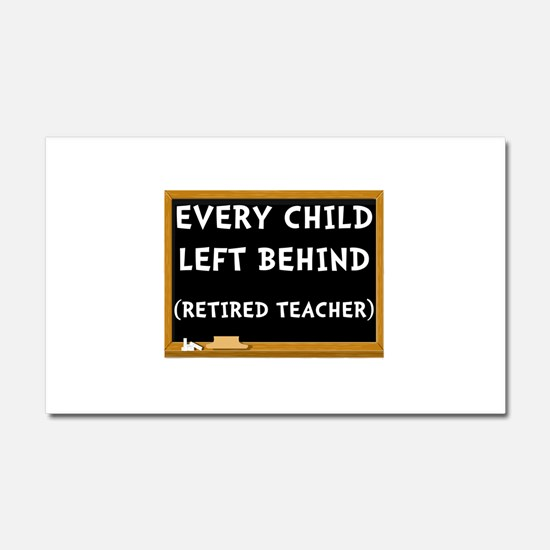 Retired Teacher Car Magnet 20 x 12