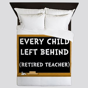 Retired Teacher Queen Duvet