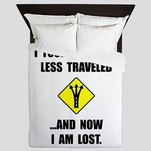 Road Less Traveled Queen Duvet