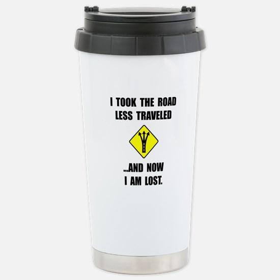 Road Less Traveled Travel Mug