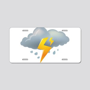 Storm - Weather - Lightning Aluminum License Plate