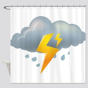 Storm - Weather - Lightning Shower Curtain