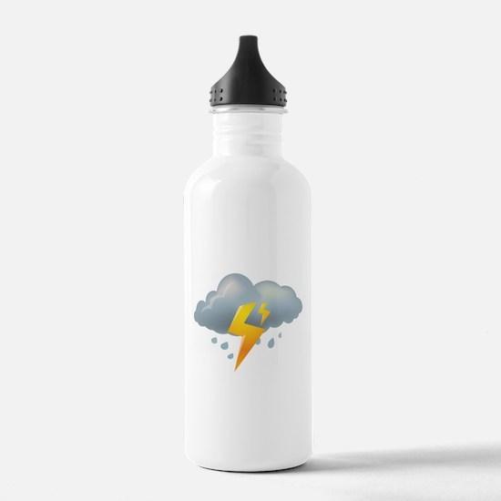 Storm - Weather - Lightning Water Bottle