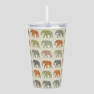 Elephant Colorful Repe Acrylic Double-wall Tumbler