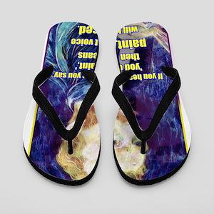 Vincent van Gogh - Art - Quote Flip Flops
