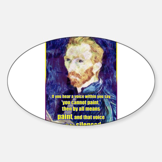 Vincent van Gogh - Art - Quote Decal
