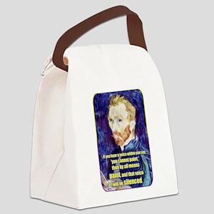 Vincent van Gogh - Art - Quote Canvas Lunch Bag
