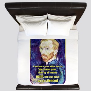Vincent van Gogh - Art - Quote King Duvet