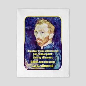Vincent van Gogh - Art - Quote Twin Duvet