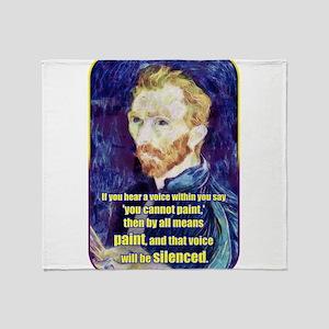 Vincent van Gogh - Art - Quote Throw Blanket