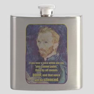 Vincent van Gogh - Art - Quote Flask