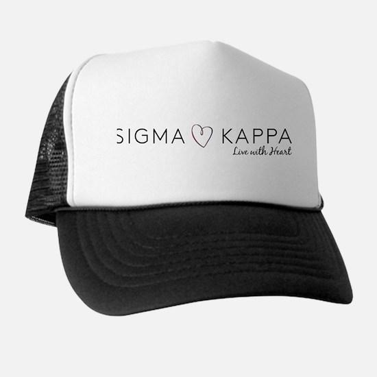 Sigma Kappa Heart Trucker Hat