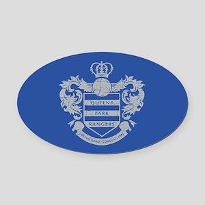 Queens Park Rangers Crest Oval Car Magnet