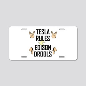 Tesla Rules Aluminum License Plate