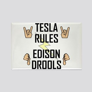 Tesla Rules Rectangle Magnet (10 pack)