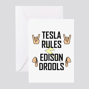 Tesla Rules Greeting Cards (Pk of 20)