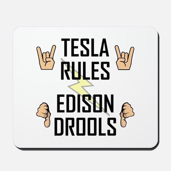Tesla Rules Mousepad