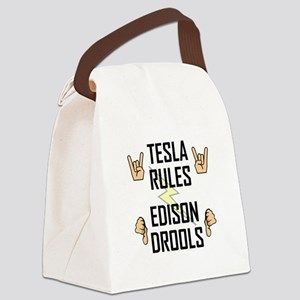Tesla Rules Canvas Lunch Bag