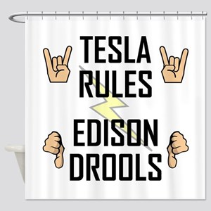 Tesla Rules Shower Curtain