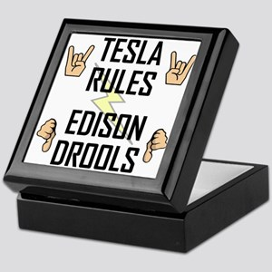 Tesla Rules Keepsake Box