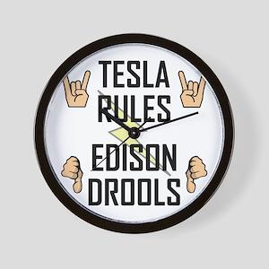 Tesla Rules Wall Clock