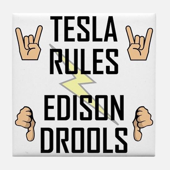 Tesla Rules Tile Coaster