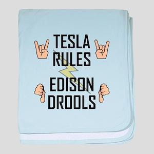 Tesla Rules baby blanket