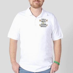 Tesla Rules Golf Shirt