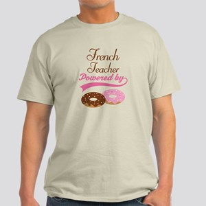 French Teacher Powered By donuts Light T-Shirt