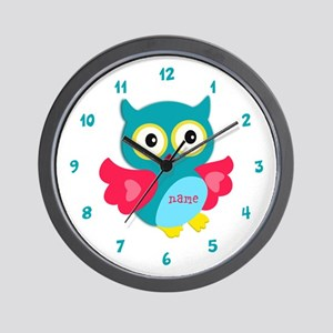 Personalized Name Owl Wall Clock