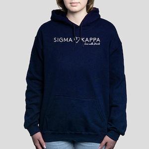 Sigma Kappa Heart Women's Hooded Sweatshirt