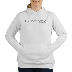 Sigma Kappa Heart Women's Hooded Sweatshirt
