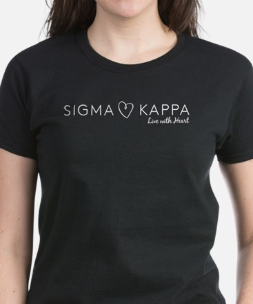 Sigma Kappa Heart Women's Dark T-Shirt