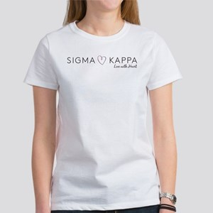 Sigma Kappa Heart Women's Classic White T-Shirt