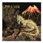 Dragon Square Car Magnet 3