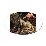 Dragon Oval Car Magnet