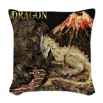 Dragon Woven Throw Pillow