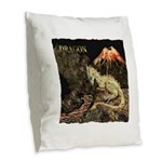 Dragon Burlap Throw Pillow