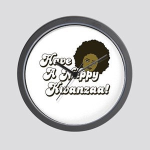 Have a Nappy Kwanzaa! Wall Clock