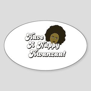 Have a Nappy Kwanzaa! Oval Sticker