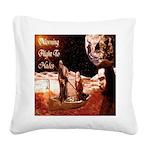 Grim Reaper Square Canvas Pillow