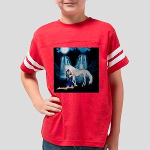 Never Let Go Unicorn Pillow Youth Football Shirt