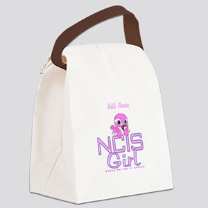 Personalized NCIS Girl Canvas Lunch Bag