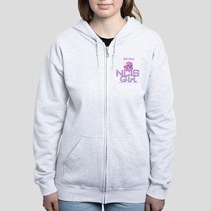 Personalized NCIS Girl Women's Zip Hoodie