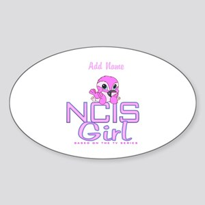Personalized NCIS Girl Sticker (Oval)
