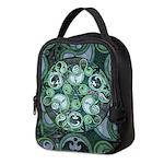 Celtic Stormy Sea Mandala Neoprene Lunch Bag