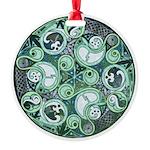 Celtic Stormy Sea Mandala Round Ornament