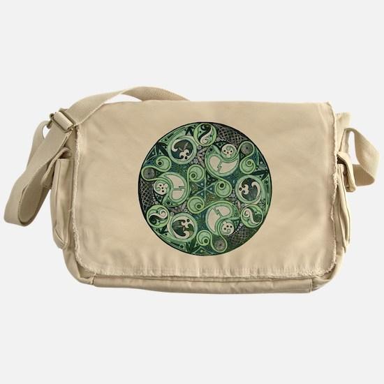 Celtic Stormy Sea Mandala Messenger Bag