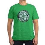 Celtic Stormy Sea Mandala Men's Fitted T-Shirt (da