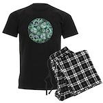 Celtic Stormy Sea Mandala Men's Dark Pajamas